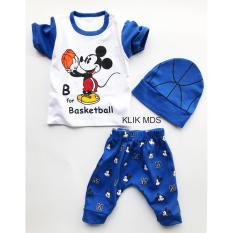 Klik Mds Baju Anak Setelan Atasan dan Celana Motif Karakter Mickey Mouse Basketball