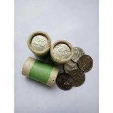 Uang kuno Koin roll 25 rupiah atau rp25 nikel thn71 isi 20 kpg asli roll BI