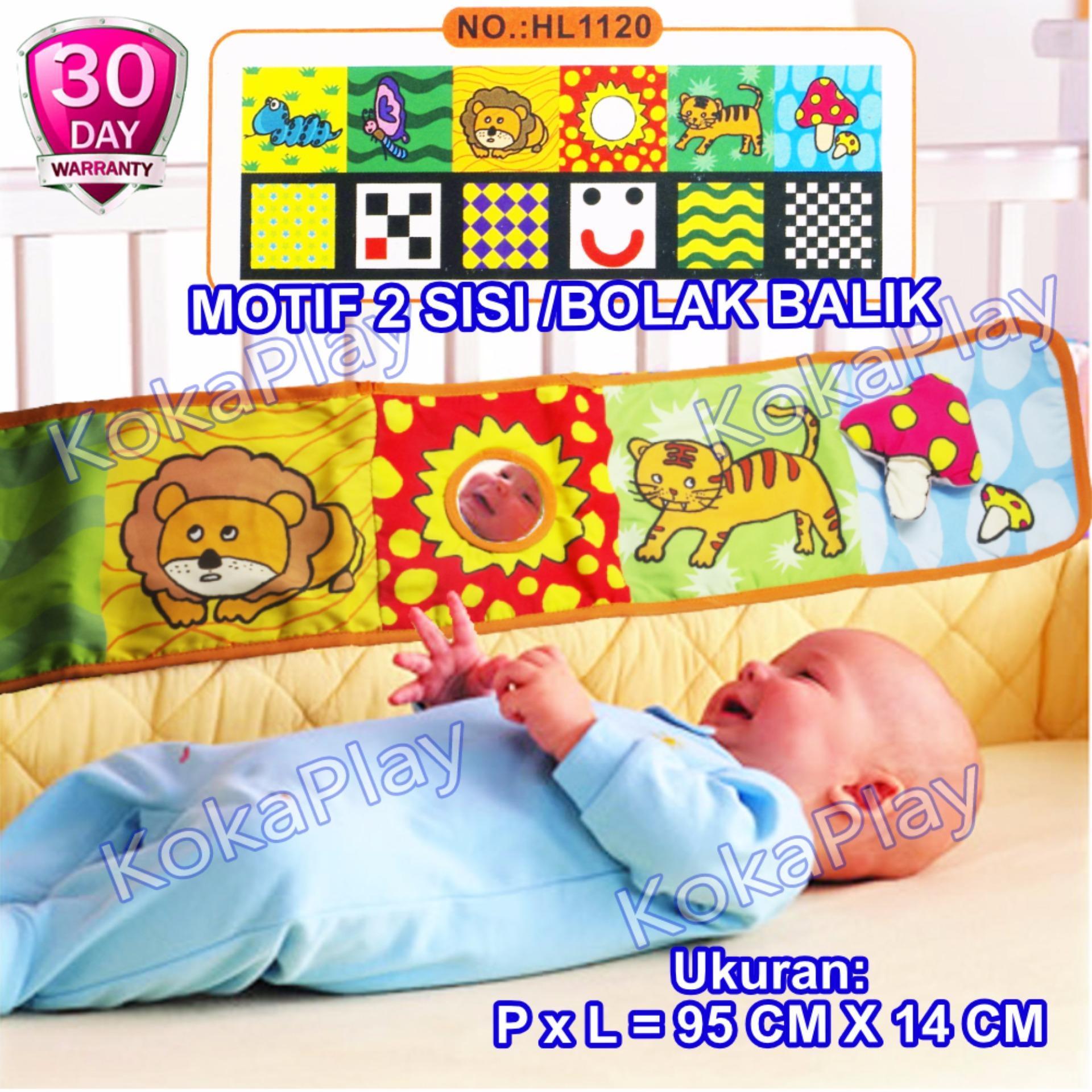 KokaPlay Baby Cloth Soft Book 6 in 1 for Crib Mainan Anak Bayi Buku Cerita Ranjang Bayi Kain Hewan Tumbuhan - Motif Jamur