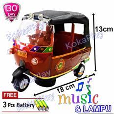 KokaPlay Bajaj Tri Wheel Transportation Car Vehicle Bump and Go Mainan Anak Mobil Bajaj Indonesia Jakarta Bom Car + Free 3 Baterai