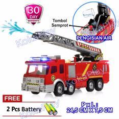 Harga Kokaplay Fire Engine Truck Bump And Go Mobil Pemadam Kebakaran Selang Semprot Air Crane Berputar Musik Piano Lampu Free 3 Baterai Kokaplay Indonesia
