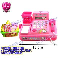 KokaPlay Hello Kitty Super Market Cash Register Cashier Play Set Mainan Anak Edukasi Kasir Keranjang Belanja Musik
