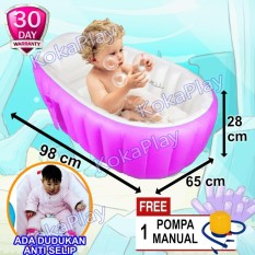 Kokaplay Intime Intex Bestway Baby Bath Tub Inflatable Pool Kolam Renang Mandi Bayi Anti Licin Selip + Free Pompa Manual By Kokaplay.