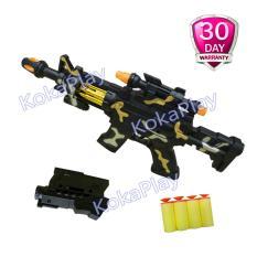 Jual Kokaplay Junqi Gun Mainan Senapan Pistol Tembak Soft Nerf Bullet Gun Original