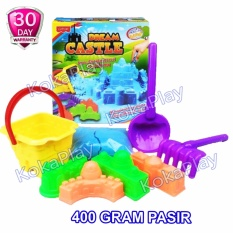 Kokaplay Magic Sand Dream Castle Transportation Series Mainan Anak Pasir Kinetik Ajaib 400Gr Seri Istana Impian Pasir Biru Jawa Barat
