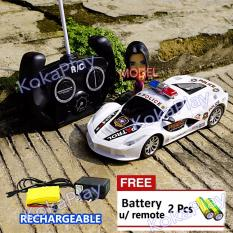 Jual Kokaplay Rc Police Safety Patrol Car Mainan Mobil Radio Remote Control Polisi Rechargeable Free 2 Baterai Branded