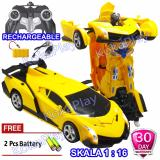 Diskon Kokaplay Rc Robocar Transformable Sports Car Lambo Robot Transformers Mainan Mobil Radio Remote Control Robot Berubah Free 2 Baterai