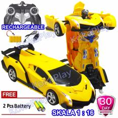 Beli Kokaplay Rc Robocar Transformable Sports Car Lambo Robot Transformers Mainan Mobil Radio Remote Control Robot Berubah Free 2 Baterai Online Indonesia