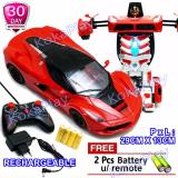 Jual Kokaplay Rc Robocar Transformable Sports Car Robot Big Skala 1 14 Transformers Mainan Mobil Remote Control Robot Berubah Free 2 Baterai Kokaplay Online