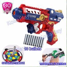 Harga Kokaplay Soft Bullet Blaster Nerf Bullet Gun Toy Avengers Spider Man Mainan Senapan Pistol Pistolan Tembak Merah Kokaplay Ori