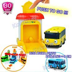 KokaPlay Tayo Little Bus Garage Series Launch Driving Game Pullback Mainan Anak Edukasi Mobil Bis Tayo Garasi Tayo Gani Lani Rogi