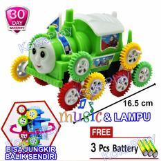 KokaPlay Thomas The Train Tumbling Car Toy Mainan Anak Mobil Mobilan Thomas Jungkir Balik - Free 3 Baterai