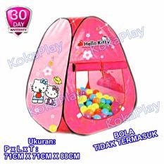 KokaPlay Triangle Mini Tent Mainan Anak Tenda Camping Indoor Segitiga Karakter Hai Cute Kitty Pink