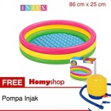 Daftar Harga Kolam Renang Anak Kolam Anak Kolam Bayi Kolam Renang Karet Kolam Mainan Intex Rainbow Uk 86 Cm X 25 Cm Seri 58924Np Free Pompa Injak Bestway Intex