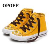 Spesifikasi Musim Semi Baru Korea Fashion Style Musim Semi Dan Musim Gugur Cetak Pergelangan Kaki Tinggi Sepatu Anak Sepatu Kanvas Beserta Harganya