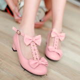 Spek Korea Fashion Style Siswa Sma Gadis Putri Sepatu Hak Tinggi Anak Sepatu Oem