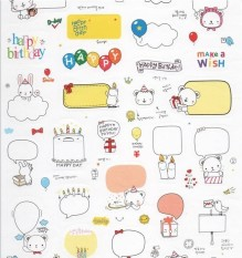 Korea Gaya Anti-Air Diri Perekat PVC Stiker Kerajinan Foto Diary Album Dekorasi-Internasional