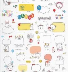 Korea style Waterproof Self Adhesive PVC Craft Sticker Photo Diary Album Decoration - intl