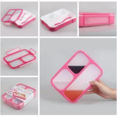 Review Terbaik Kotak Makan Lunch Box Yooyee 3 Sekat Grid Leak Proof Anti Bocor Bento Kotak Bekal