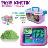 Toko Kreazzi Paket Pasir Kinetik Hijau 750 Gram Aksesoris Play Sand Mainan Edukasi Kreazzi Online