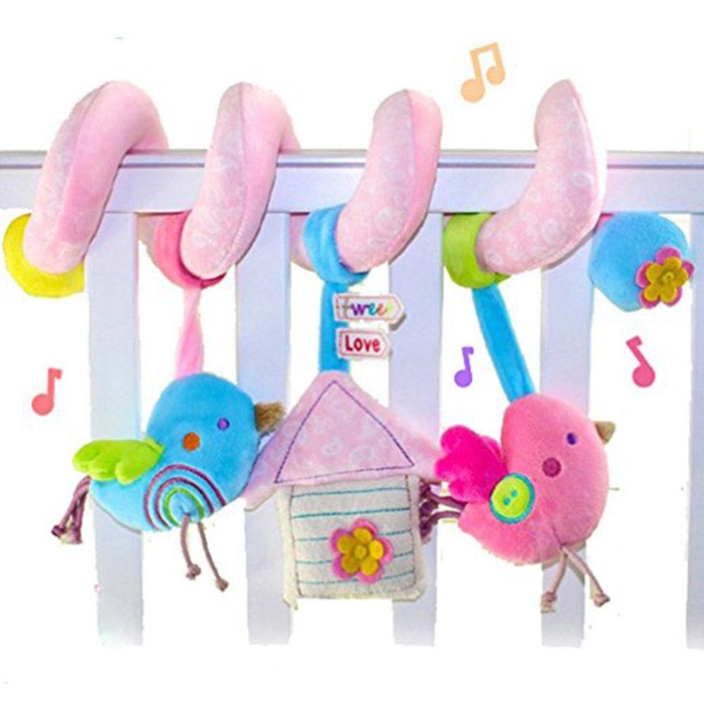 Kuhong Baby Spiral Soft Toy Pram Car Seat Cot Crib Activity Rattle Plush Toys Gift - intl