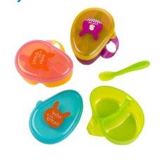 Model Kuhong Sendok Makanan Kartun Portable Baby 1 Set Wadah Penyimpanan Kotak Makan Siang Terbaru