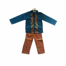L Nice Koko Boys Set Baju Koko Anak Atasan Tosca Celana Coklat