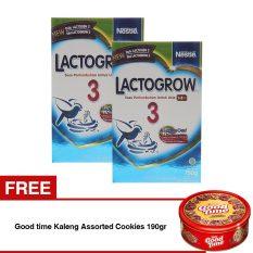 Lactogrow 3 Happynutri 750 Gr Bundle Isi 2 Box Free Good Time Kaleng Assorted Cookies 190Gr Promo Beli 1 Gratis 1