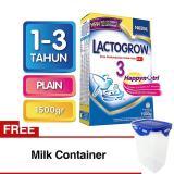 Ulasan Lengkap Lactogrow 3 Happynutri Plain Susu Pertumbuhan 1 3 Tahun Box 1 5Kg 2X750G Free Milk Container