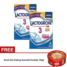 Harga Lactogrow 3 Happynutri Rasa Madu 750 Gr Bundle Isi 2 Box Free Good Time Kaleng Assorted Cookies 190Gr Lactogrow Online