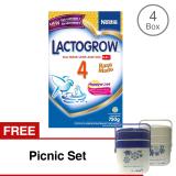 Jual Lactogrow 4 Happynutri Rasa Madu 750 Gr Bundle 4 Gratis Picnic Set Lactogrow Ori