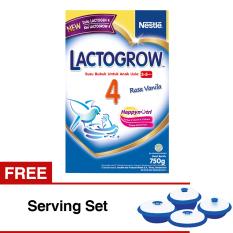 Promo Lactogrow 4 Happynutri Rasa Vanila 750 Gr Isi 2 Free Serving Set Lactogrow