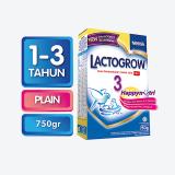 Spesifikasi Lactogrow 3 Happynutri Rasa Plain Susu Pertumbuhan 1 3 Tahun Box 750G Lactogrow