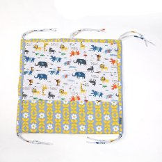 LALANG Baby Cot Bed Hanging Tas Penyimpanan Organizer Mainan Diaper Pocket untuk Crib Bedding Set (Kuning + Abu-abu)