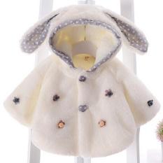 Toko Lalang Balita Perempuan Bulu Mantel Musim Dingin Hangat Jubah Jaket Putih Lengkap