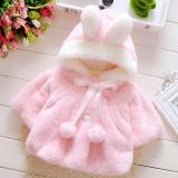 Perbandingan Harga Lalang Balita Gadis Kelinci Telinga Hat Hairball Nyaman Mantel Musim Dingin Hangat Jaket Pink Di Tiongkok