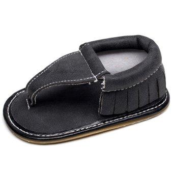 Sepatu Firstwalkers Bayi Balita Prewalker Sandal Jepit (Hitam) Lalang Intl