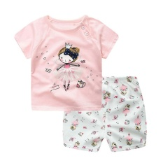 Jual Lalang Balita Set Boys Gorls Kartun T Shirt And Pants Bang Pendek Pink Branded