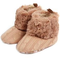 Spesifikasi Lalang Balita Rajutan Sepatu Salju Boots Khaki Dan Harga