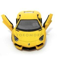 Lamborghini Aventador Kuning Doff Diecast Miniatur Mobil Kin - Cbde9b - Original Asli