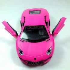 Lamborghini Aventador Magenta Pink Doff Diecast Miniatur Mobil Kin - 5D6735 - Original Asli