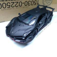 Lamborghini Veneno Hitam Cat Doff Diecast Miniatur Mobil Kin - 7B65D7 - Original Asli