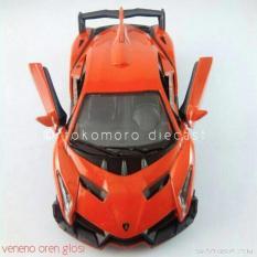 Lamborghini Veneno Oren Glosi Miniatur Mobil Kin - D5ebc6 - Original Asli