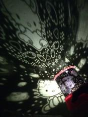 Lampu proyektor / lampu tidur proyektor / star master hello kitty