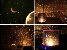 lampu tidur proyektor / star master Bulan bintang