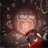 Beli Lanyasy Romantis Auto Rotate Cupid Sky Star Lampu Malam Led Lampu Proyektor Dengan Musik Acak Warna Star Master Intl Yang Bagus