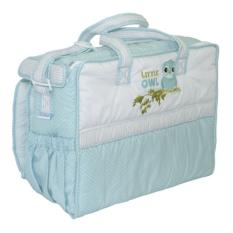 Le monde Baby Bag with Water Proof Pad - 'Little Owl Blue'