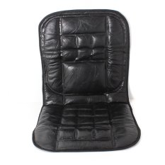 Leather Back Support Front Seat Cover Cushion Chair Massage For CarTaxi Protect