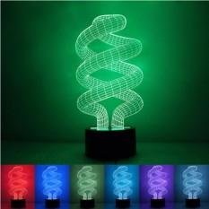 LED 3D Tornado Night Light Mood Lampu untuk Holiday Lamp 3 DBulbingLights 7 Warna Mengubah Dekorasi Sebagai Anak Hadiah 1 PcAcrylic-Intl