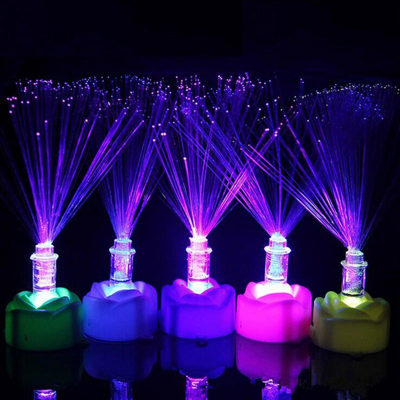 Memimpin Perubahan Warna Serat Optik Cahaya Malam Lampu RUmaH WARna-WARna-Warni Dekorasi Pesta